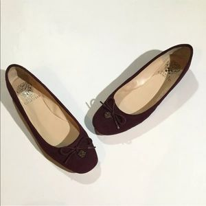 Vince Camuto Size 6.5 Ria Flat Ballet Suede Shoes